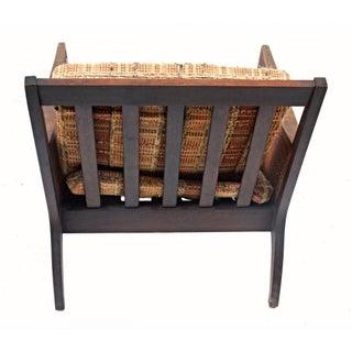 Vintage Mid Century Modern Wood Wicker Armchair Preview