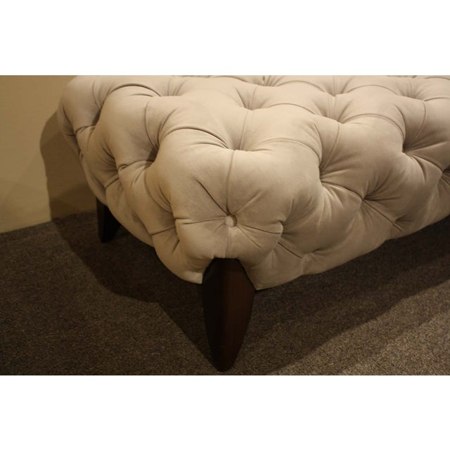 Nathan Anthony Sabine Ottoman in Gray Velvet - Image 4 of 6