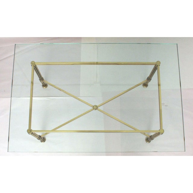 La Barge Style Brass Cocktail Table - Image 5 of 8