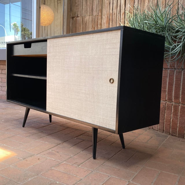 Planner Group Paul McCobb Planner Group Credenza With Original Ebonized Wood Finish, 1950s For Sale - Image 4 of 12