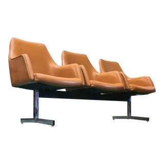 Mid Century Tandem Bench For Sale