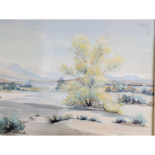 Mid-Century Modern Evelyn E. McGinnis Mid-Century Watercolor Paintings - A Pair For Sale - Image 3 of 11