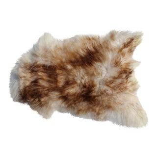 Modern Genuine Icelandic Sheepskin Shade of Brown Rug Throw- 2′ × 3′