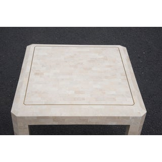 Maitland Smith Tesselated Stone and Brass Side Table Preview