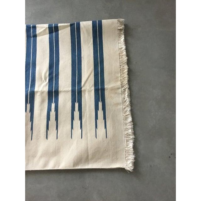 "Dhurrie Rug Custom Handmade in India - 72"" x 99"" - Image 8 of 10"