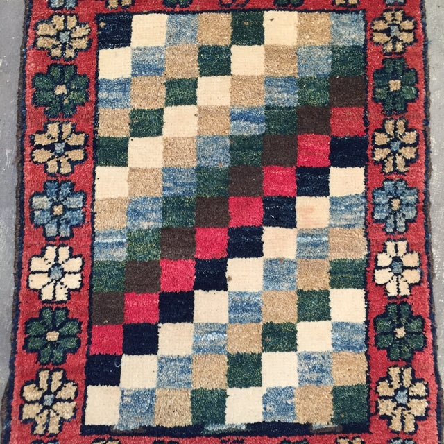 """Gabeh Hand Made Persian Rug - 1'9"""" x 2'5"""" - Image 3 of 10"""