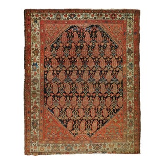 Antique Hand Knotted Persian Rug For Sale