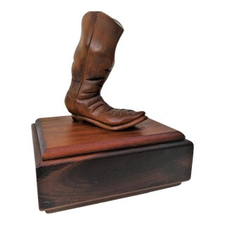 Cowboy Boot Sculpture Box