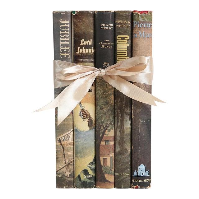 Midcentury Book Gift Set: Dustjacket Novels, S/5 For Sale