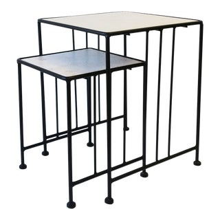 Italian End or Nesting Tables in the Art Deco Bauhaus Style, Pair or Set For Sale