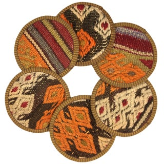 Kilim Coasters Set of 6 | Kavaflar For Sale