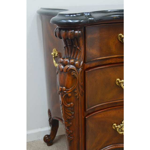 Chippendale Maitland Smith Mahogany Chippendale Dresser Chest Commode For Sale - Image 3 of 13