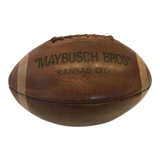 Maybusch Bros Leather Football Sports Decor For Sale