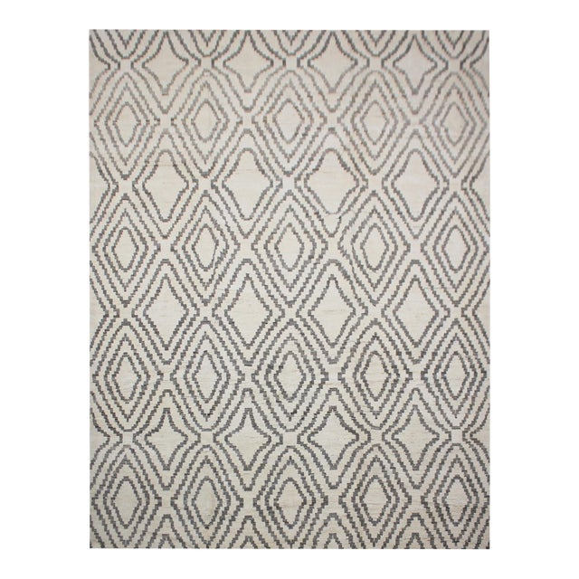 "Aara Rugs Inc. Hand Knotted Navajo Style Rug - 9'9"" X 13'3"" For Sale"