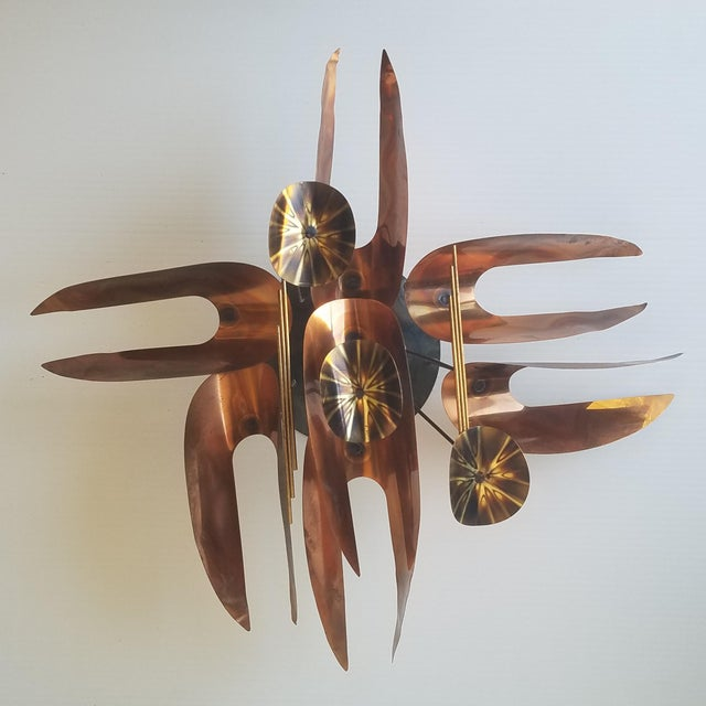Mid 20th Century Unmarked Curtis Jere Wall Sculpture For Sale - Image 10 of 11