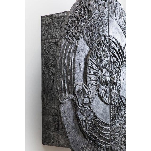 Brutalist Paul Evans, Sculpted Bronze Disc Bar in Aluminum Argente Finish, Usa, 1975 For Sale - Image 3 of 8