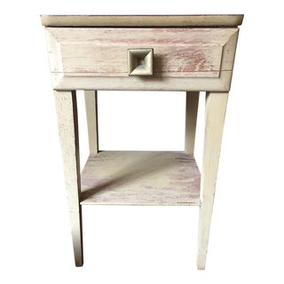 1960s Shabby Chic Mengel Blonde Bedside Table For Sale