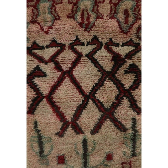 Islamic 1970s Vintage Boujad Moroccan Rug - 2′10″ × 5′9″ For Sale - Image 3 of 6