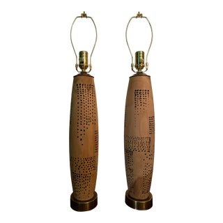 Jean Dunand Inspired Lamps - a Pair For Sale