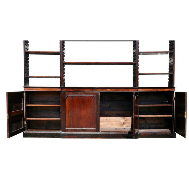 George III Mahogany Breakfront Open Bookcase For Sale - Image 4 of 7