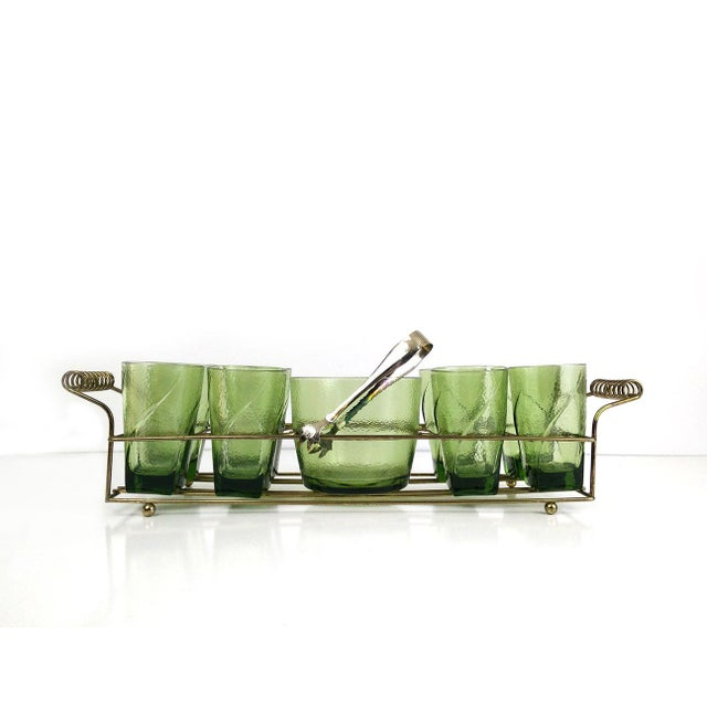 Vintage Bar Caddy With Ice Bucket - Set of 9 For Sale - Image 6 of 6