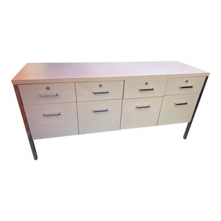 1960s Vintage Mid Century Modern Steelcase Credenza For Sale