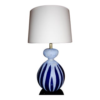 Visual Comfort Ceramic Blue Table Lamp