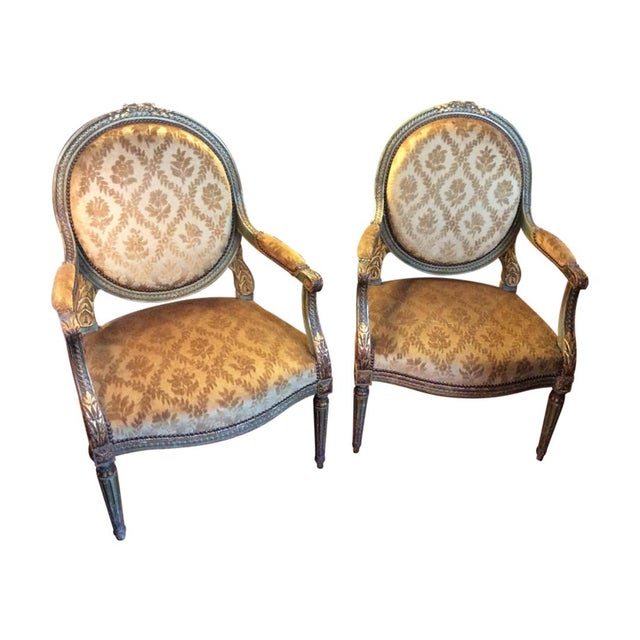 Pair of Louis XVI Fauteuils For Sale - Image 11 of 11