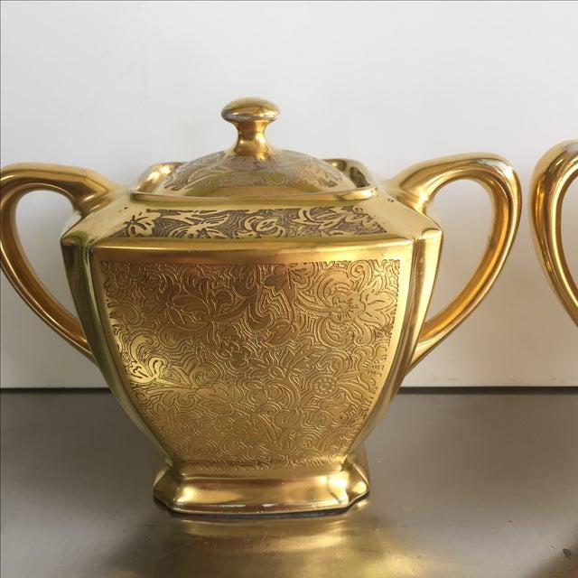 22 Karat Gold Cream and Sugar - Pair - Image 3 of 7