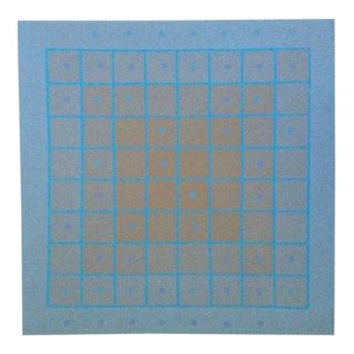 1973 Op-Art Silkscreen Signed Bay Area Artist For Sale