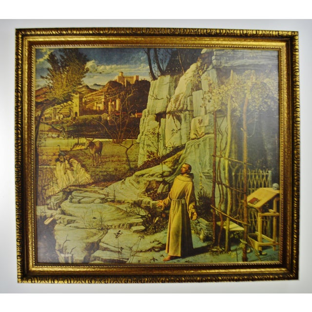 Vintage Giovanni Bellini Framed Print on Board The Ecstasy of St. Francis - Image 2 of 11