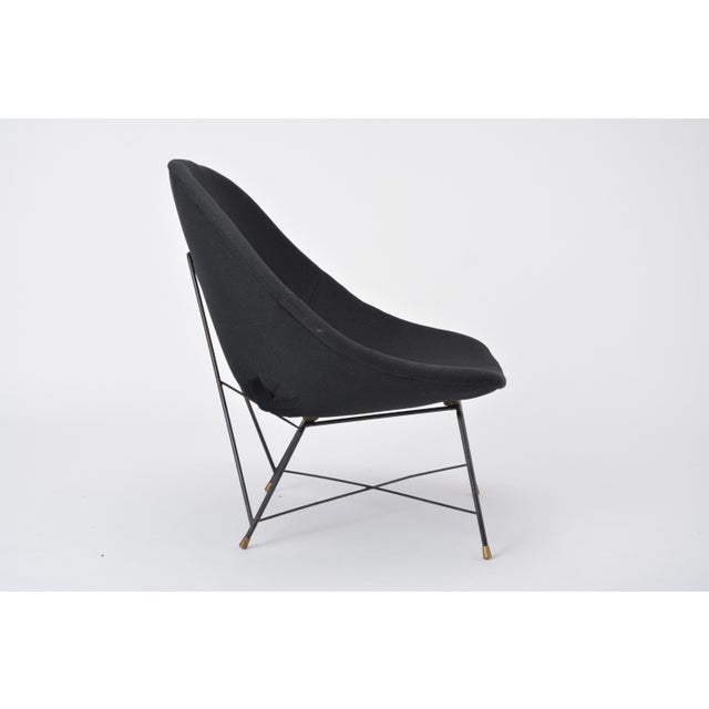 Mid-Century Modern Black Italian Cosmos Lounge Chair by Augusto Bozzi for Saporiti For Sale - Image 3 of 11