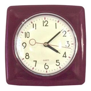 Vintage Quartz Wall Clock For Sale