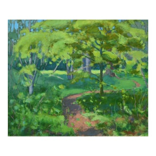 "Stephen Remick ""S-Curve by the Beech Tree"" Landscape Painting For Sale"