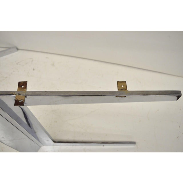 Mid-Century Modern Chrome Steel Double Star Pedestal Dining Table Bases - a Pair For Sale - Image 9 of 13