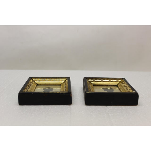 English Antique Silhouette Miniatures - a Pair For Sale - Image 3 of 9