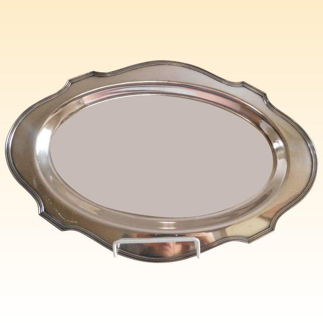 e.g Webster & Sons Antique Silver Serving Tray For Sale - Image 9 of 11