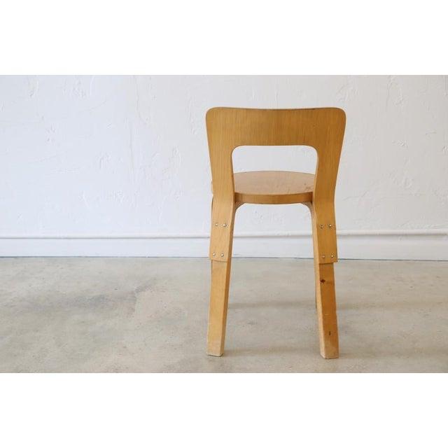 Artek Alvar Aalto for Artek Birchwood Chair 65 For Sale - Image 4 of 8