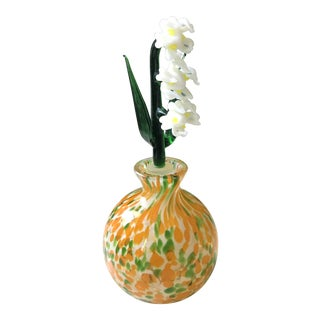 Murano Lillies of the Valley Perfume Bottle For Sale