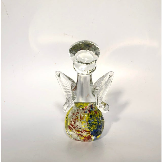 Hollywood Regency Vintage Murano Glass Angel Figure For Sale - Image 3 of 6