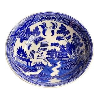 Vintage Blue Willow Serving Bowl For Sale