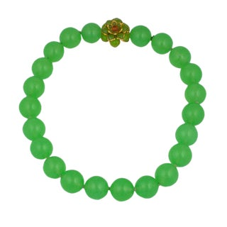 Mwlc Lime Zinnia Necklace For Sale