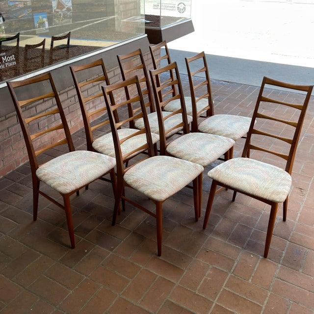 Danish Modern Koefoeds Hornslet Teak Ladder-Back Dining Chairs - Set of 8 For Sale - Image 11 of 13