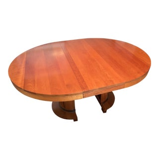 Contemporary Stickley Cherry Dining Table With Two Leaves For Sale