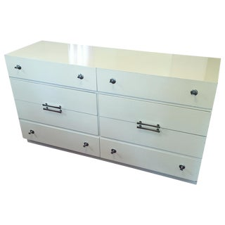 MCM Style Dresser in White Lacquer