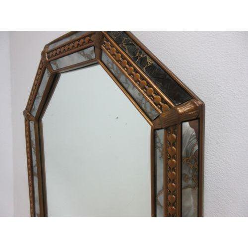 Vintage Italian Venetian Decorator Hanging Wall Console Mirror - Image 3 of 5