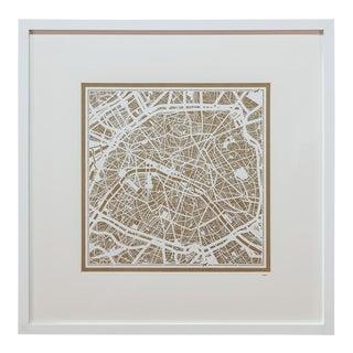 Sarreid LTD Large Paris Framed Map