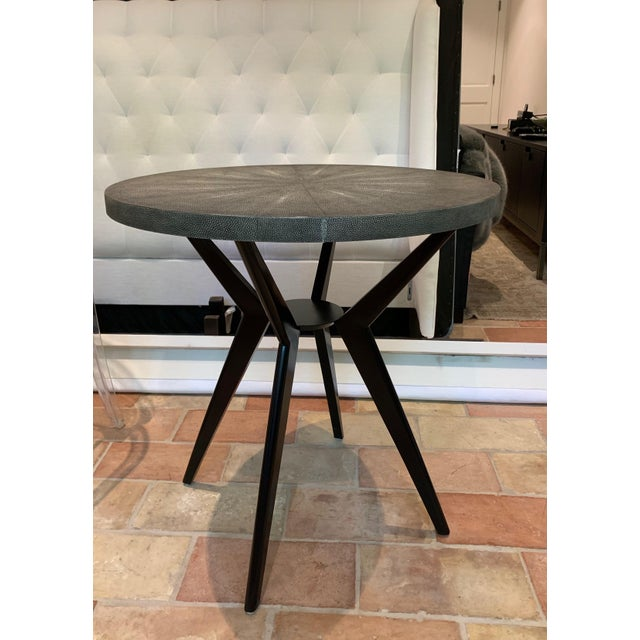 Animal Skin Round Cocktail Table For Sale - Image 7 of 7