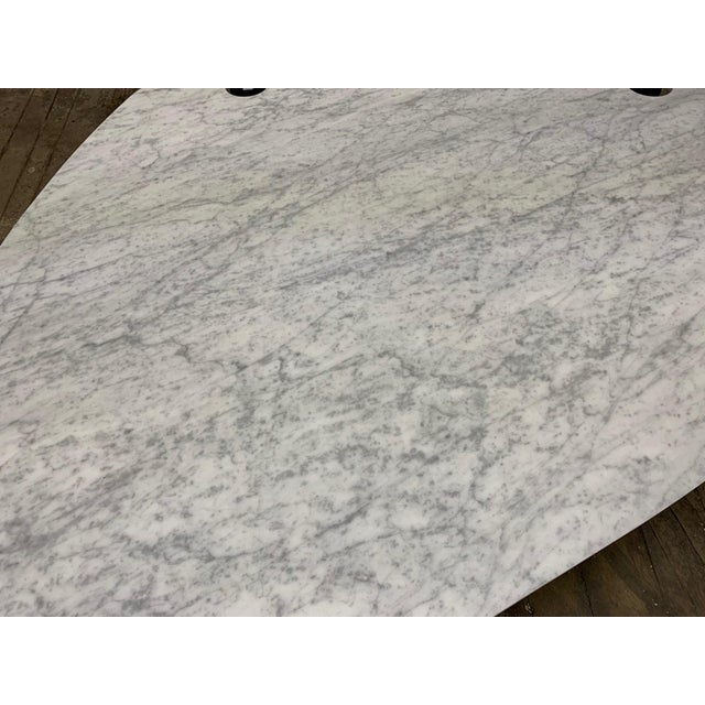 1960s 1960s Sculptural Carrara Marble Top Coffee Table For Sale - Image 5 of 9