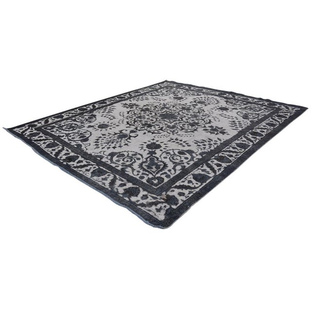 Textile Burjusta Color Reform Frederic Gray/Gray Wool Rug - 9'3 X 11'9 A9431 For Sale - Image 7 of 7